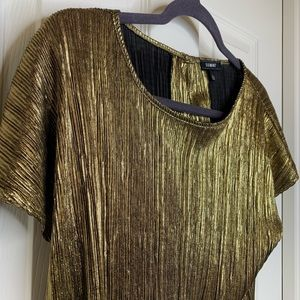 Gold shimmery blouse top